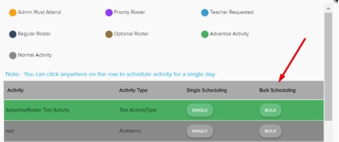 Single Flex Bulk Scheduling FTM