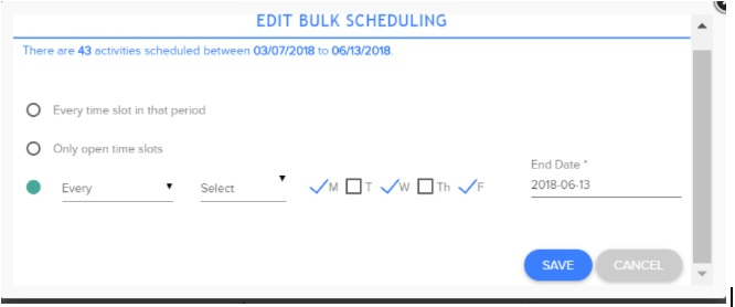 Edit Bulk Scheduling Single Flex 6