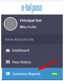 digital hall pass summary reports