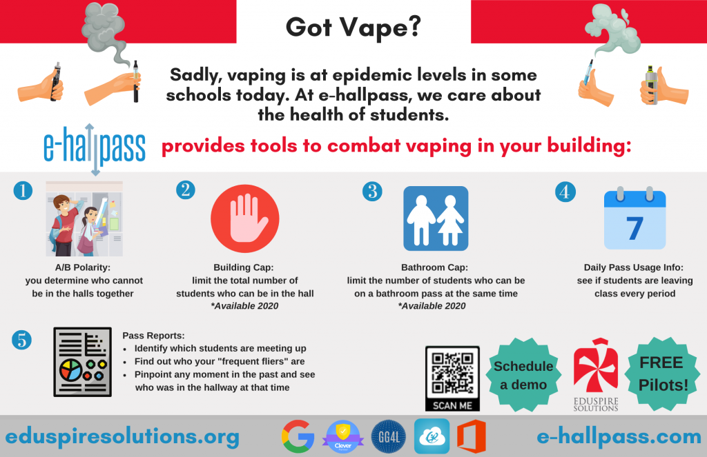 e-hallpass vaping
